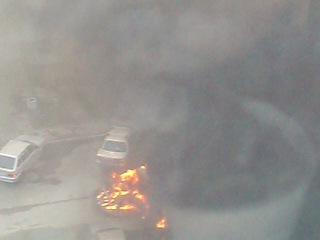 пожар на Октябрьской набережной 124 к. 5