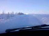 Зимняя дорога очень красиво