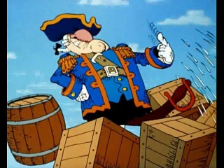 Остров сокровищ Мультфильм 1988, отрывок. Пушка!