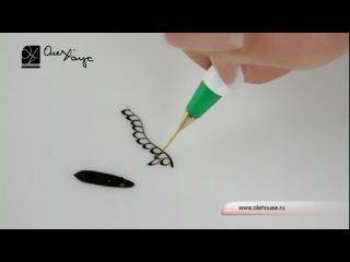 Кисть Короткий волосок для дизайна ногтей