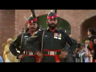 Церемония закрытия границы между Индией и Пакистаном