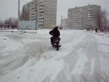 Скутеристы   Зимний дрифт на скуте