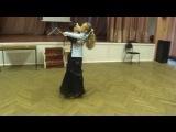 Амир и Маша. Медленный вальс на тренировке. Е кл(дети-2)