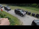 свадебный кортеж Hummer H2. Хаммеры белый и черные. Прокат Хаммеров на свадьбу в Минске Кристины и Дмитрия