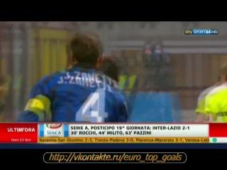 22.01.2012 Интер (Милан) —  Лацио (Рим) 2:1 Обзор