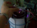 Мой качер часть 3 питание 159В 0,75А, потребляемая мощность 120Вт
