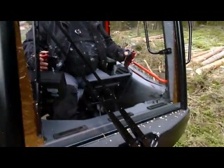 каматсу машына для переробки леса!