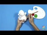 Снеговики из папье маше