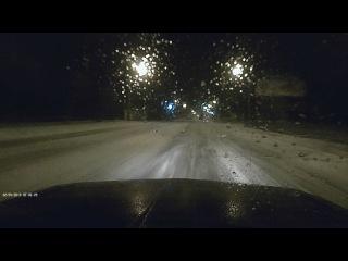 снег, гололёд,ночь + плохое настроение. Всё равно 120 км/ч это прикольно