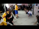 День учителя. Урок физкультуры (учителя в роли учеников и наоборот)
