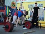 Обласные соревнования 2013 года 28 апреля,тяга 230кг.