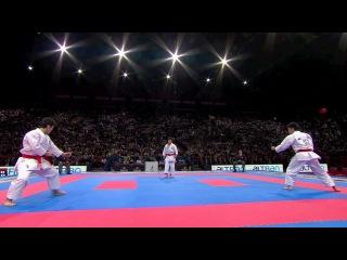 Unsu. Karate Japan vs Italy. Final Male Team Kata. WKF World Karate Championships 2012