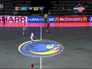 Чемпионат Европы по мини-футболу 2012. Россия - Турция (2 тайм)