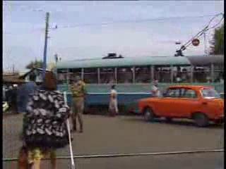 Казань, Россия ТРАМВАЙ 1997 год