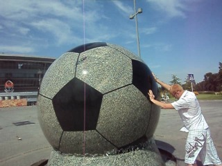 маленький мячик для мини футбола)))
