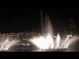 Фонтан в Дубаи под Mikle Jackson
