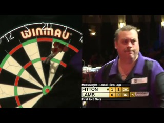 Darryl Fitton vs Nigel Lamb (Winmau World Masters 2013 / Last 32)