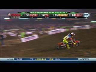 AMA Supercross 2014. Этап 1 - Анахайм. Часть 1