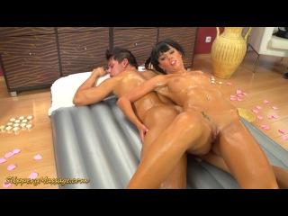 SlipperyMassage: Gina & Angelo - Erotic Oil Massage