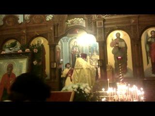 праздник  николая  чюдотворца   вечерняя  служба  в    храме  рождества    христова