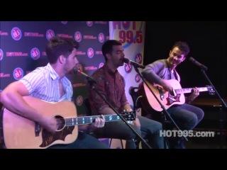 The Jonas Brothers performing Lovebug at HOT 99 5 studios