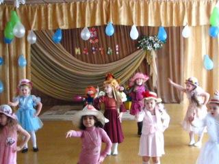 Утренник в садике - танец модных девчонок