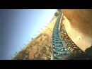 Furius Baco Intamin Launched Roller Coaster Front Seat POV Onride PortAvenutra Spain Port Adventura
