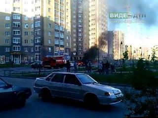 Взрыв авто в Тюмени 31.05.13 | ДТП авария