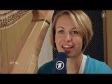 Магдалена Нойнер играет на арфе