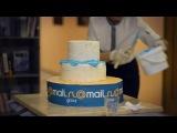 15 лет Mail.Ru Group - праздничный торт в воронежском офисе