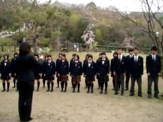 Японские школьники  поют на Армянском