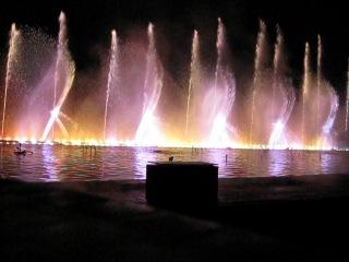 Шоу танцующих фонтанов в Протарасе (Кипр)
