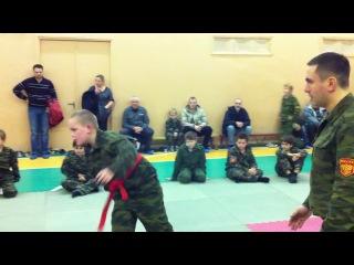 Артем. Соревнования по самбо (1 из 3-х поединков)