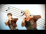 【進撃のMMD】ジャンとマルコと、ハッピーシンセサイザ!