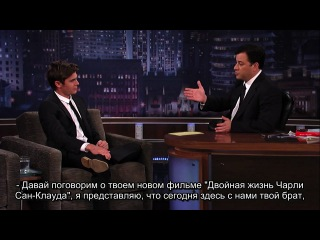 Зак на шоу Jimmy Kimmel Live-часть 2 (28.07.10)(с субтитрами)