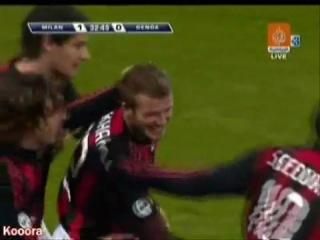 Beckham Goal - AC Milan vs Genoa - High Quality