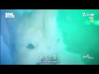 [rus sub] jay park & 2eyes 'what does the fox say' parody - snlkorea ep35