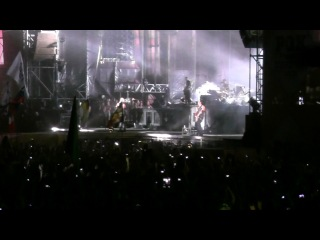DU HAST Rammstein подпевают 600 000 человек Фестиваль Рок над Волгой 08 июня 2013 г Самара