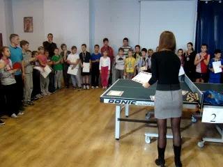 первый открытый детский турнир по настольному теннису(одесса оупен)