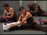 Голливудский тренер Jeanette Jenkins. Тренировка на мышцы пресса и спины. Растяжка.