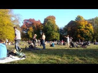 Воскресный теплый день... Clara Zetkin Park, Leipzig