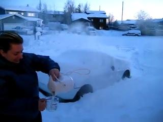 Что происходит с кипятком на морозе