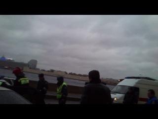 Авария с участием автомобиля ДПС
