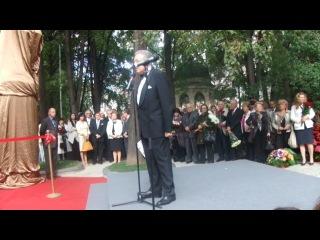 Открытие памятника Муслиму Магометовичу Магомаеву в Москве. Отрывок 1.