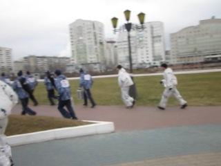 Пробег факелоносца к УСК Хоркиной.(Белгород)