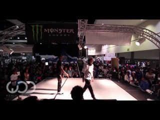 World of Dance LA 2012 Allstyles Battle: Larry (Les Twins) vs Smart Mark
