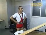 Gaki no Tsukai #653 (06.04.2003) — Matsumoto Challenge 5 (Weightlifting)