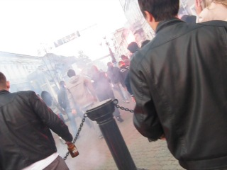 Фанаты Зенита перед матчем с Рубином