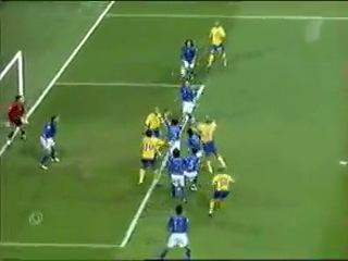 EURO 2004 Италия- Швеция (гол Златана Ибрагимовича за 6 мин. до окончания игры)