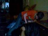 Дуель подушками за місце біля компа)))